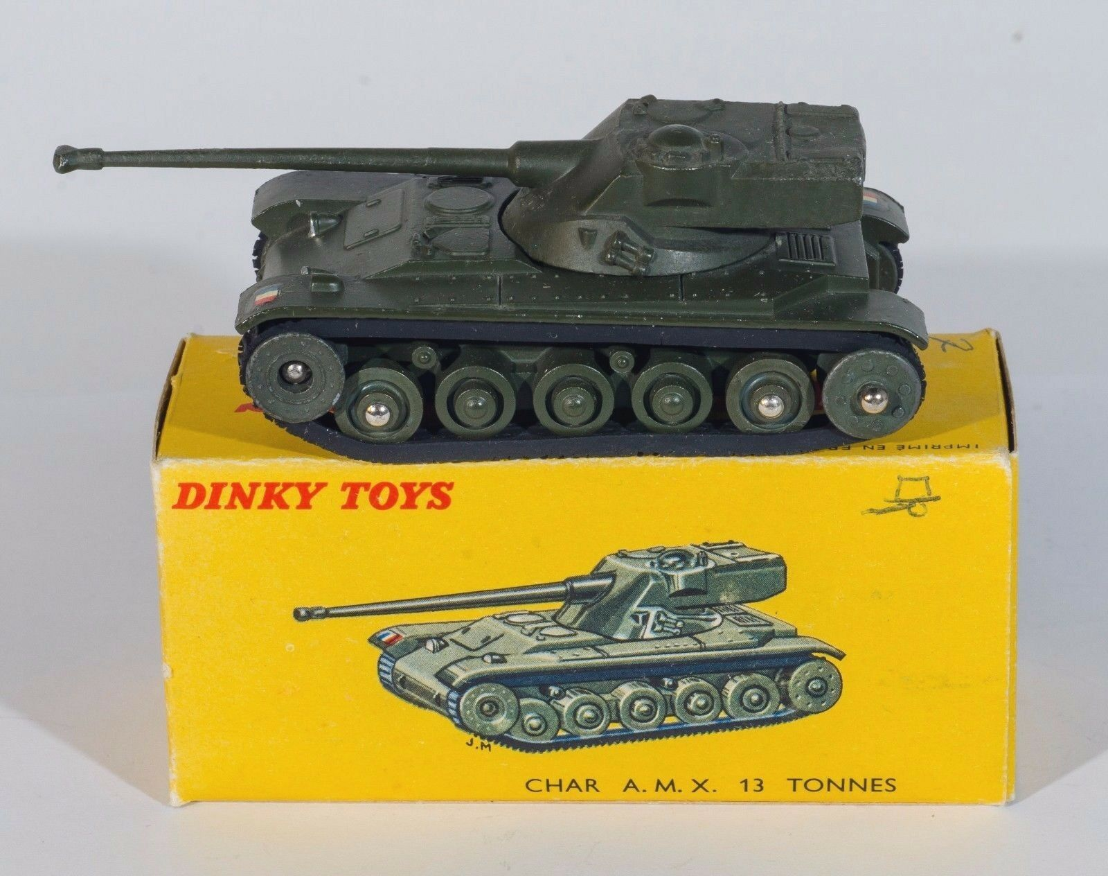 French dinky 80 C C C A.M.X. 13 T Tank. Vert. VNMINT/Boxed. Années 1950 | Réputation D'abord  | En Ligne  | De Biens De Toutes Sortes Sont Disponibles  7e231f