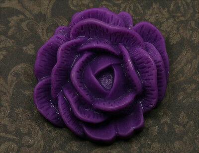 XL Resin Cabochon Rose zum Kleben 45mm lila tm067