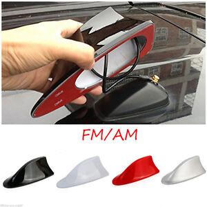 Auto-coche-aleta-tiburon-antena-de-techo-radio-FM-AM-Decorar-aereas-4-colores
