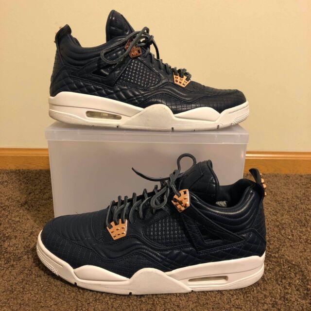 Nike Air Jordan 4 Retro Premium IV Pinnacle Obsidian Gold Mens Aj4 819139 402 12