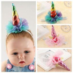 Image is loading Baby-Rainbow-Glitter-Metallic-Unicorn-Headband -Kids-Unicorn- 9e8bfe3d346