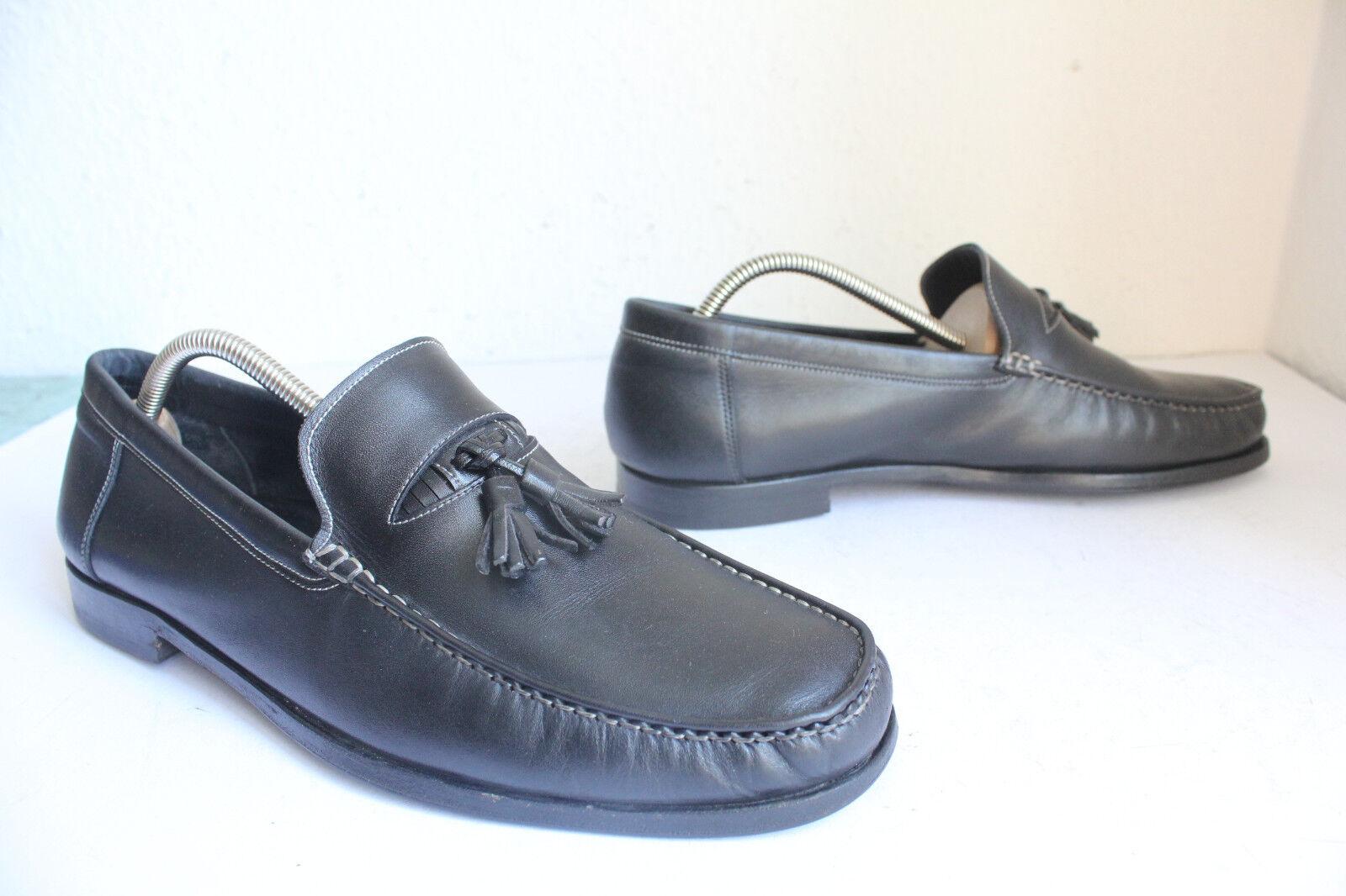 Bay Luxus Mallorca made Loafer Slipper Schuhe Voll Echtleder Eu:44,5 made Mallorca in Spain 306a08