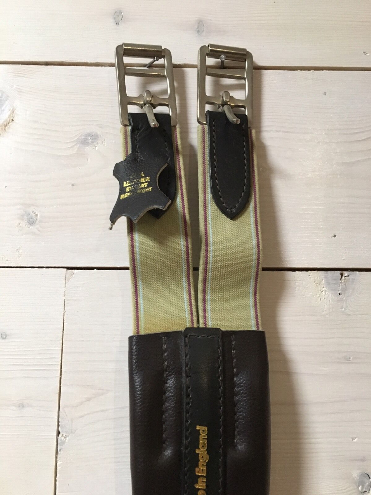New Sz 50 Chafeless Girth with Sweat Resistant LeatherMade in England  Save