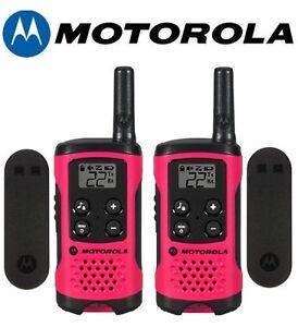 Motorola-Talkabout-T107-Walkie-Talkie-2-Pack-16-Mile-Two-Way-Pink-Radios