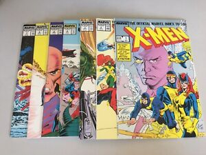 Official-Marvel-Index-To-The-X-Men-1987-Marvel-1-7-Complete-Set-Marvel-Comics
