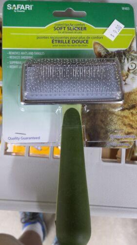 Safari Soft Slicker Brush SmallStainless Steel Grooming Tool for Cats