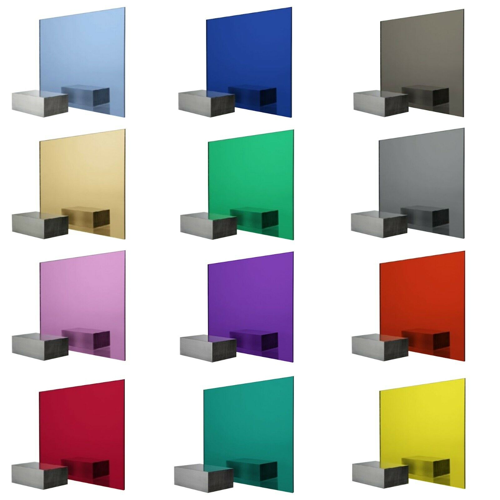 Acrylic Colour Perspex Mosaic Safety Mirror Tiles 55mm, 100mm, 150mm & 200mm Sq