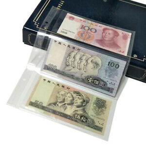 10PC 3 Grids Pocket Currency Page Money Banknote Album Collection Storage Sheets