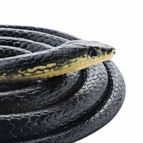 Realistic Rubber Snake MAMBA Toy 52 Black Long Looks Real Garden Props Pranks