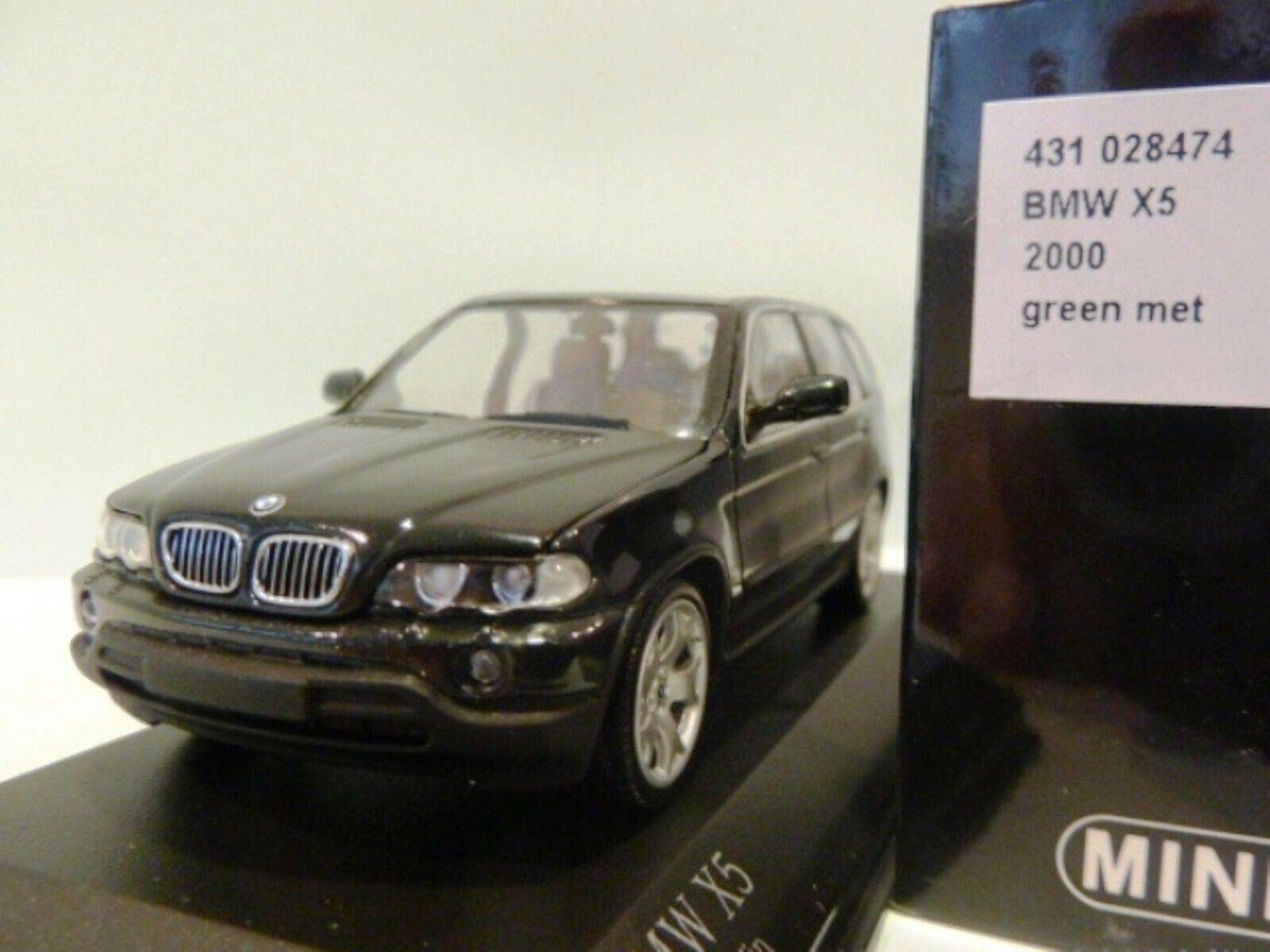 Wow extrêmement rare BMW E53 X5 Suv 4.4i V8 32 V 1999 vert 1 43 Minichamps-M3 GTR
