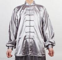 Wushu Taichi Uniform Kungfu Uniforms China Tai Chi Chuan Chinese Kung Fu Silver