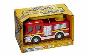 Corgi-Chunkies-Ladder-Fire-Truck-U-K-Die-Cast-large-toy-vehicle
