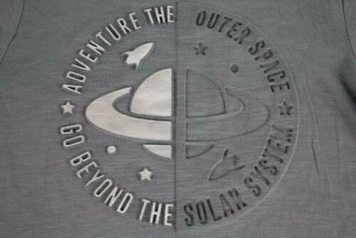 Boys Space T Shirt Saturn Planets Size 14-16 XL Moon Science Top Graphic Tee