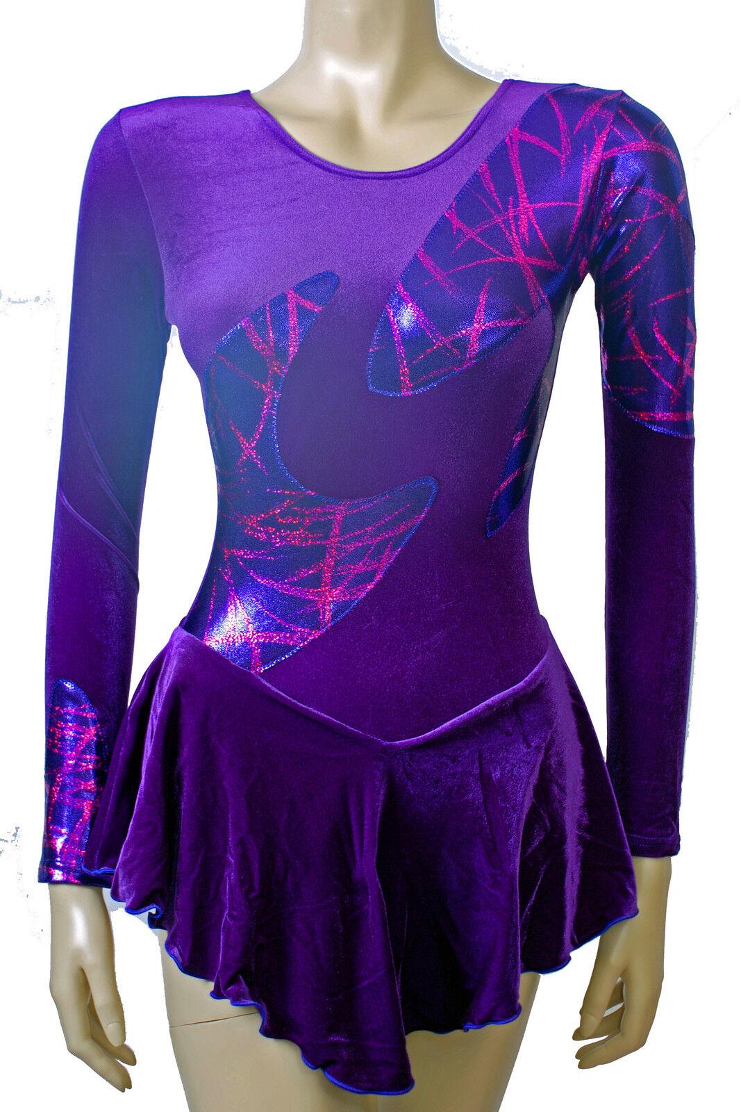 Skating Kleid purple Samt   purple Kirsch Sam metallisch alle Größen - integrieren