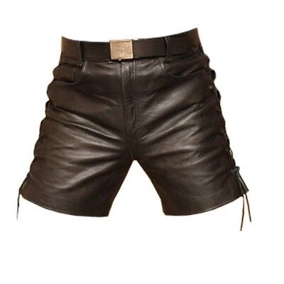 Men's Leather Shorts Side Laces Model New All Sizes