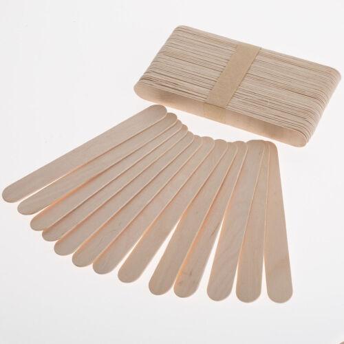 50 Large Jumbo Flat Natural Wooden Lollipop Lolly Sticks Art Craft DIY