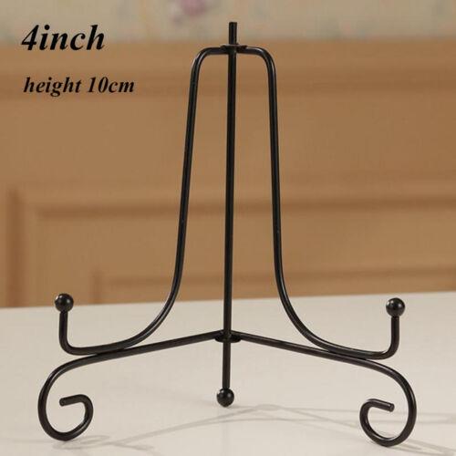 Art Photo Pedestal Book Holder Black Iron Plate Rack Display Stand Easel