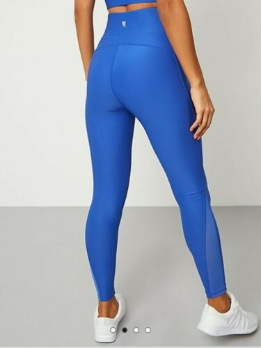 BNWT SIZE L LARGE GEORGE BLUE STRETCH SPORTS LEGGINGS 16-18 trousers joggers new