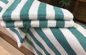 4-Pack-New-Large-Beach-Resort-Pool-Towels-in-Cabana-Stripe-Green-30x70