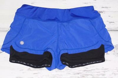 ATHLETA~PURPLE~STRETCH~BE SEEN *2-IN ONE PULSE* RUNNING FEATHERWEIGHT SHORTS~XS
