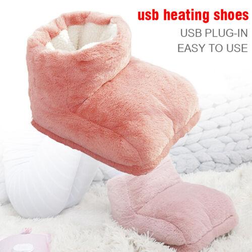 Detachable USB Electric Foot Warmer Feet Heating Boot Heater Shoes Heating Pad