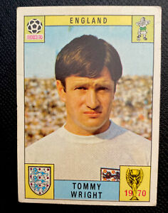 PANINI MEXICO 70 ORIGINAL TOMMY WRIGHT ENGLAND UNUSED STICKER RED BACK