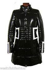 WHO'S WHO giubbotto trench donna nero bianco woman black white jacket SIZE 46