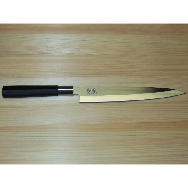 """New Shun/Kai Wasabi 8 1/4"""" Yanagiba Knife 6721Y Black Sushi Sashimi Slicing Chef"""