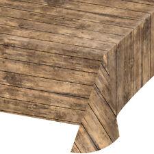 Bulk Wood Grain Plastic Tablecloths 6ct