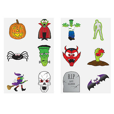 Halloween Spooky Temporary Tattoos Kid Party Bag Fillers Childrens ...