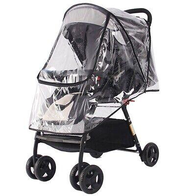Universal Buggy Rain Cover Baby Pushchair Stroller Pram Raincover Wind Shield UK