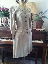 Vintage 1940's Beautiful Tailored COAT thin pinstripe wool. BEAUTY 34-26-34