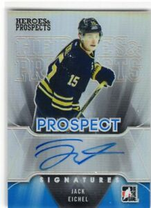 2015-16-IN-THE-GAME-HEROES-AND-PROSPECTS-ROOKIE-RC-AUTO-JACK-EICHEL-BLUE-SABRES
