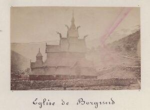 Norvège Norway Eglise De Borgund Vintage Albumine 5,7x8,9cmca 1880