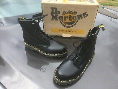 Appena Vintage Dr Martens 8248 Nero Pelle Stivali Uk 8 Eu 42 Made In England-mostra Il Titolo Originale