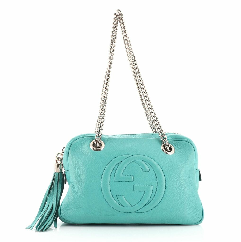 Gucci Soho Chain Zip Shoulder Bag Leather Small  | eBay