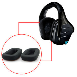 Details about 1 Pair Black Ear Pads Replacemnet Parts EarPad For Logitech  G633 G933 Headphones