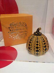 Yayoi Kusama Calabaza de Japón Nueva Amarillo escultura de artista Pisapapeles objeto