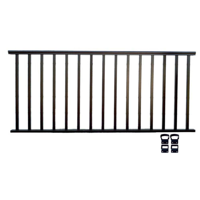Contractor Deck Railing 8ft X 36in Aluminum Residential Hammered Black
