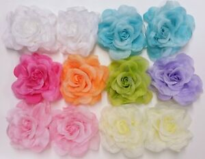 Large Fabrice Rose Three in one Ponytail Hair clip brooch