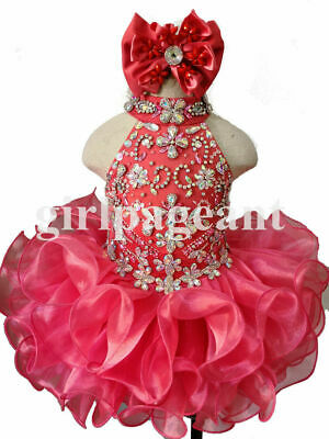 Infant//toddler//baby//children girl baby doll Pageant Dress 2008BP