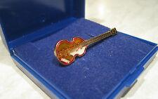 Beatles Bass Guitar Pin Badge Brooch Lapel Hofner Paul McCartney - GIFT BOXED