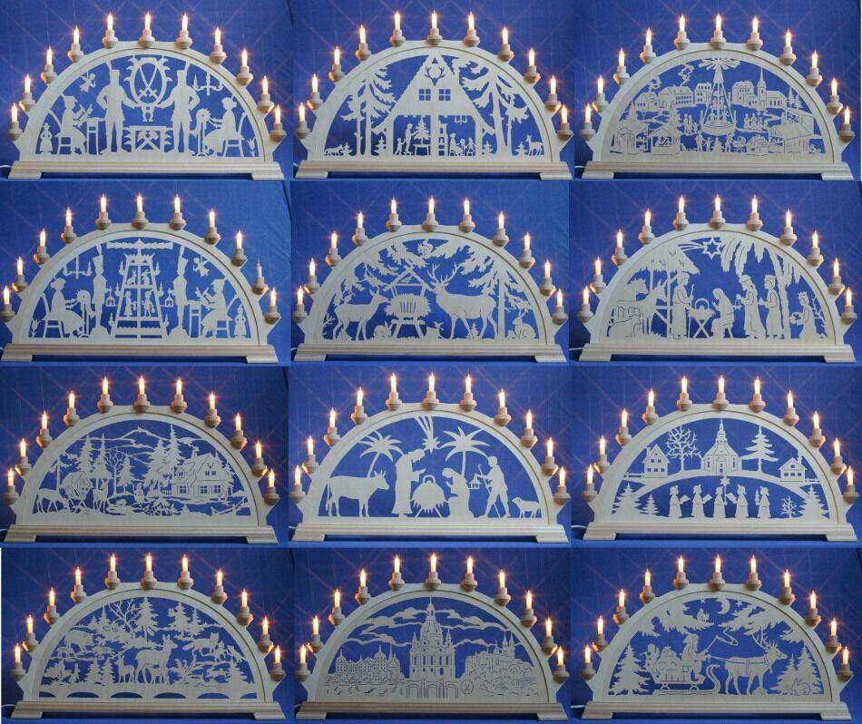 Taulin Schwibbogen   Lichterbogen Erzgebirge Bergmann Pyramide Christi Geburt
