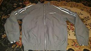 Umbro-Gray-amp-White-Athletic-Soccer-Jacket-Full-Zip-ADULT-Men-039-s-Size-Small