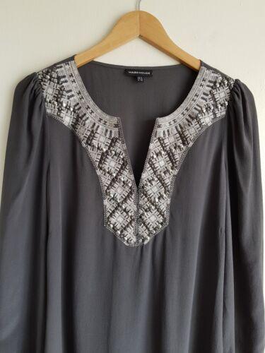 100 silk Tunic Warehouse Size 12 Ladies Once Top Worn xv6q55Aw