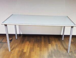 Tisch Schreibtisch Bürotisch Glastisch Verstellbar Ikea Tisch Ebay