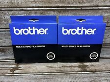 Lot Of 2 Brother Multi Strike Film Typewriter Ribbon Reorder No 1031 Black