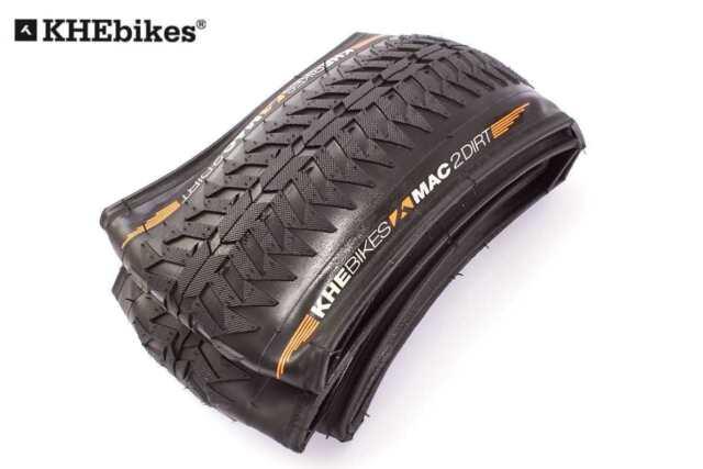 "Black 26/"" X 55mm Street E6 120 psi KHE Folding Kewlar Beaded Tyre Premium MAC2"