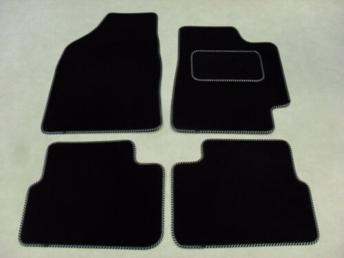 Fiat Bravo 2007-on Fully Tailored Deluxe Car Mats in Black Black//Silver Trim