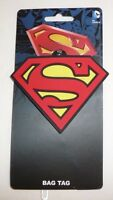 Dc Comics Superman Luggage Bag Tag - S Symbol Shield Suitcase Travel Name Tag